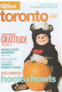 Today's Parent Toronto Front Cover Oct 2009