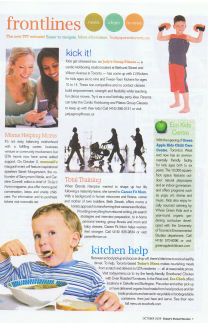 Todays Parent Toronto Total Training Article about Career Fit Mom In the News